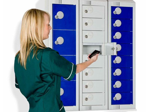 small lockers for mobile phones